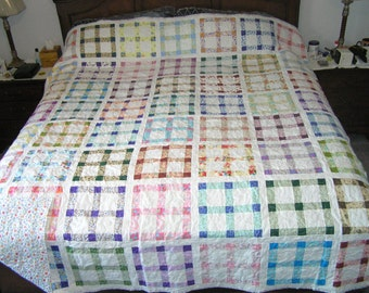 "King size ""Window Panes"" quilt"