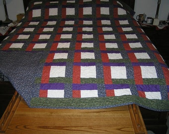Woven ribbons king size quilts