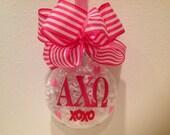 Alpha Chi Omega valentine big little gift Greek letters sorority gift