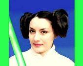 Princess Leia hair buns Star Wars Inspired wedding costume wig hair accessories wig custom color kanekalon synthetic hair