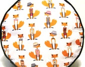 Mr Fox Pouffe Foot Rest Floor Cushion Pouff Grey