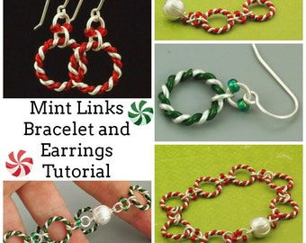 Mint Links Bracelet and Earrings -  Expert Tutorial