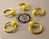 ringOs JUMBO Yellow - Snag-Free Ring Stitch Markers for Knitting