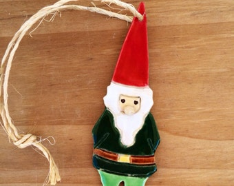 Gnome Elf Ornament gift tag