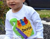 Crayon Birthday Shirt Boys