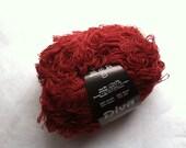 S. Charles Collezione Diva #2066 Garnet Red Acrylic Wool Nylon Silk Loose-Loop Boucle Yarn