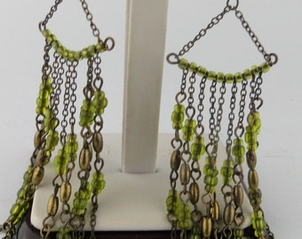 Gorgeous Peridot color Drop Earrings