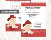 Baby Fireman Firefighter Baby Shower Invitations, Firetruck Baby Shower, Printed or Printable