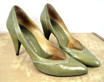 Vintage 1980s Charles Jourdan Pumps Shoes, Made in France