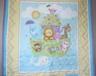 Baby Animals Noah's Ark Crib/Lap/Wall
