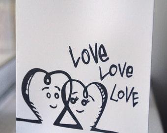 Love love love / Peety Notecard