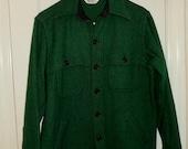 On SALE Now! Vintage Pendleton Wool Shirt/Jacket Dark Green Size M