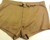 Vintage 1970 Men's US Navy SWIM TRUNKS, Shorts. Let's go surfin.  Swimsuit.  Size 40.  Unicor Swimmers