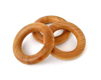 Wooden Teething Rings - Set of 20