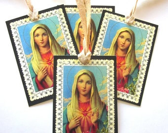 Holiday Gift Tag Paper Lace Religious Gift Tag Christmas Decoration