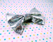Sparkly Rainbow  Kawaii Cute Bow Tie/ Hair Bow made to order!
