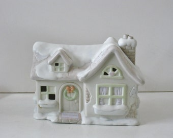 Vintage Precious Moments Childs Night Light, Sugar Town House, Sams House, Porcelain Bedroom Lighting