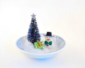 Snowman, Miniature Snowman, Christmas Decoration, Home Decor, Christmas Decor, Holiday Decor, Tabletop, Christmas Tabletop, Office, Kitsch