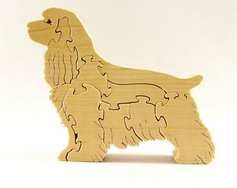 Cocker Spaniel Dog Wood Puzzle