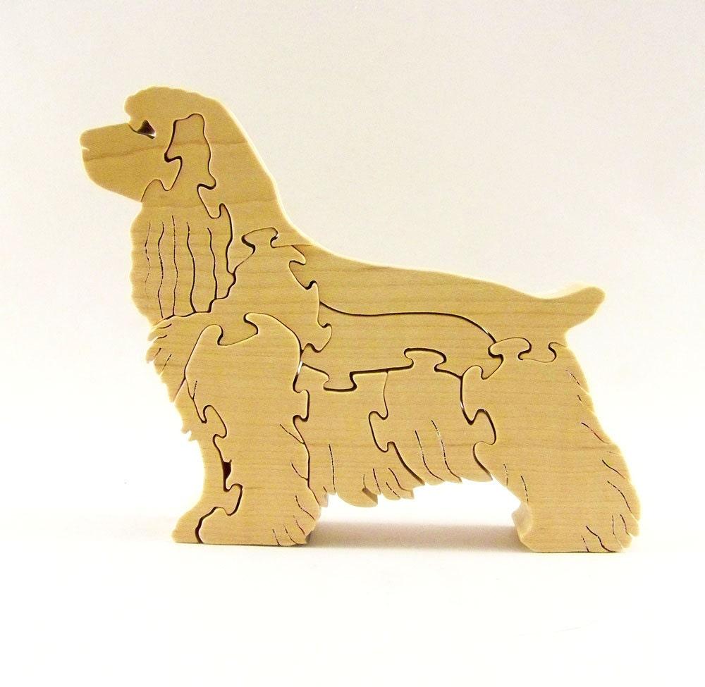Cocker Spaniel Dog Wood Puzzle