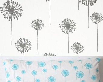Pillow Cover - Grey - Dandelion - Floral - Botanical - Cushion Cover