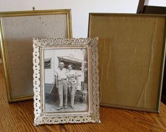 HALF PRICE 3 different vintage goldtone metal frames