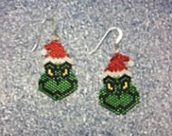 Beaded Grumpy Sparkle Elf Earrings