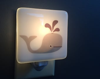 Whale Fused Glass Nightlight