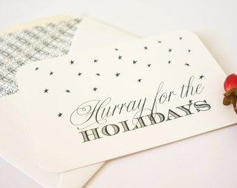 Value Pack Holiday Card, Confetti Card, Nondenominational Holiday Card, Anyone Card, Holiday Card Set, Stars, Unique Holiday Card, Xmas Card