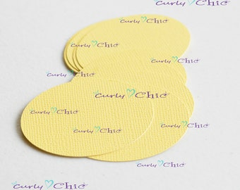 "100 Oval Cardstock Die cut Size 2"" in Non-textured Cardstock paper"