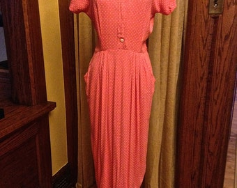 Pretty Vintage 1950's Look Day Dress