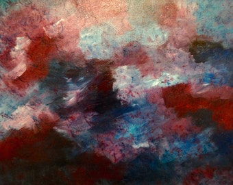 "Original Acrylic Painting on 16x20 Canvas - Painting Home Decor Artwork - Abstract- ""Stormy"""
