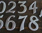 3 inch Vintage Textured Metal Numbers 2-3-4-5-6-7-8-9-0 1/2 House Number