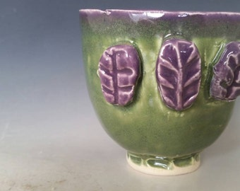 Sale Green and Purple Textured cup