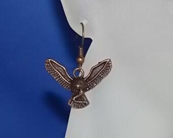 Men's Earrings Copper Hawk and Snake Single Man's Earring, Earrings for Men CLEARANCE!