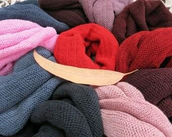 5 Summer Headband Headwraps Black Brown Neutral Cotton single colors - Choose any 5 Light Midi wraps