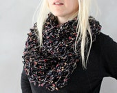 Knit Infinity Scarf / Chunky Cowl / Dark Navy Cowl Scarf / Cowl Scarf / Circle Scarf / Knitted Infinity Scarf / Gift for Women / Infinity