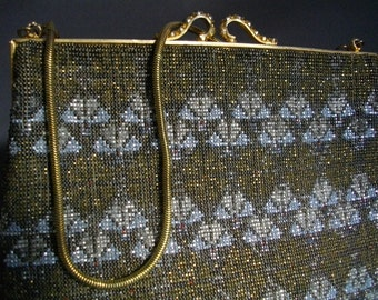 Very Rare Vintage French Cut Steel Micro Beaded Handbag Accessories Collectible FREE SHIPPING To The USA And Canada