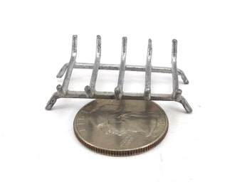 Doll House Metal Fireplace Grate Vintage 1970s Dollhouse Miniature