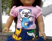 AG doll outfit Hand Painted set YOU send me clothing - handpainted ETSYKIDS Boutique custom