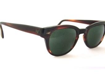 1950s Eyeglasses  // 50s 60s Vintage Frames // Tortoiseshell / optical frames