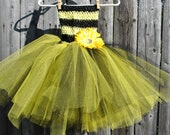 Infant/Toddler Bumble Bee Tutu Dress with Accessories