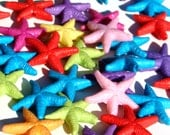 40pc Assorted Colorful Acrylic Starfish Beads