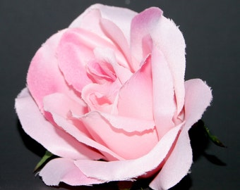 Large Two-Tone Pink Rose -  Artificial Flower, Silk Flower Heads