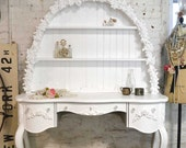 RESERVED LISTING CINDY Painted Cottage Shabby Romantic Vanity/ Desk SSDK01