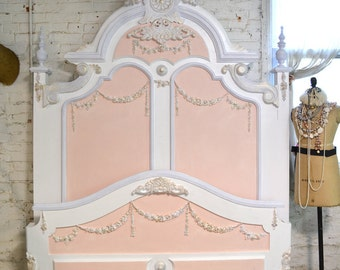 Painted Cottage Shabby Marie Antoinette Romantic Bed