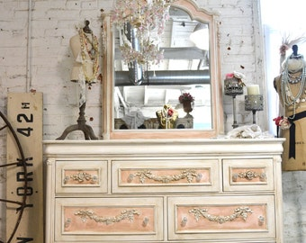 Painted Cottage Chic Shabby Romantic French Dresser LGDR25