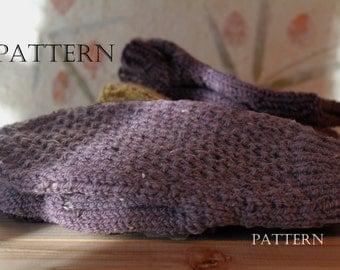 Honeycomb Brioche Mittens Knit in the Round. Pattern