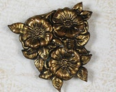 Vintage Victorian Style Embossed Gold Dress Clip