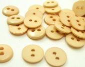 "Beige Tan 7/16"" (11 mm) buttons, Qty 115"